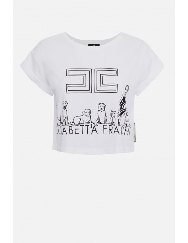 Camiseta corta Elisabetta Franchi - altamoda.shop - MA09C01E2