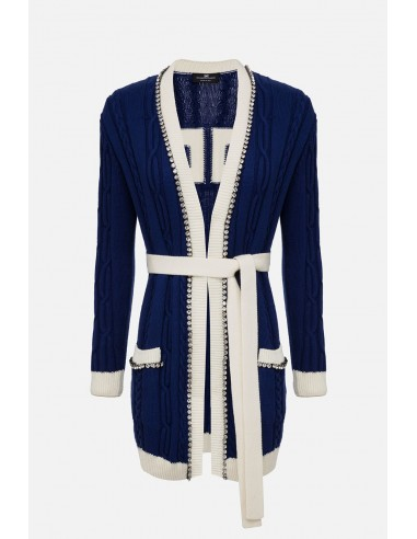Elisabetta Franchi cardigan with belt - altamoda.shop - MK25L01E2