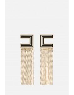 Boucles d'oreilles Elisabetta Franchi avec des chaînes comme franges - altamoda.shop - OR2MC01E2