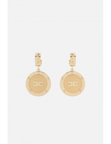 Elisabetta Franchi earrings in medallion shape - altamoda.shop - OR3MC01E2
