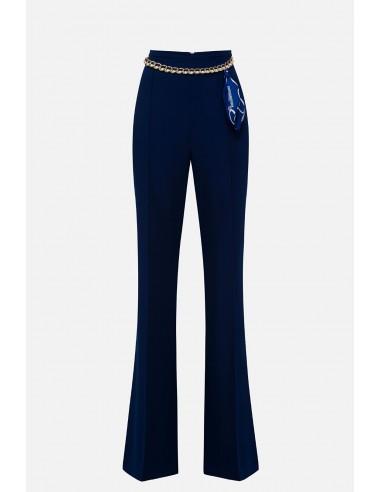 Elisabetta Franchi Palazzo crêpe pants - altamoda.shop - PA06301E2
