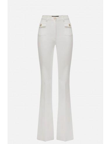 Elisabetta Franchi jeans com 4 bolsos - altamoda.shop - PJ56D01E2
