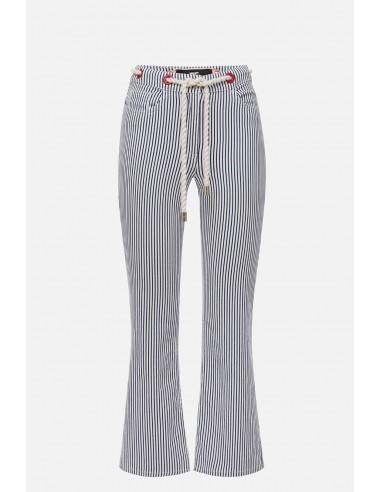 Elisabetta Franchi denim pants with belt - altamoda.shop - PJ57D01E2