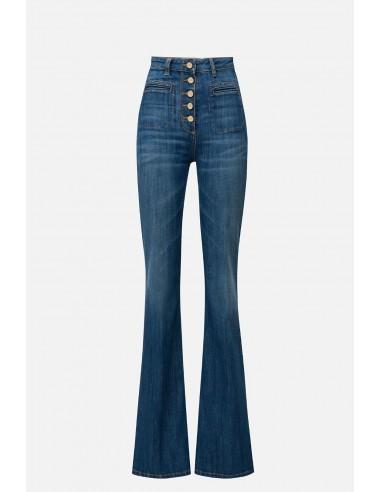 Elisabetta Franchi jeans with wide leg - altamoda.shop - PJ65S01E2