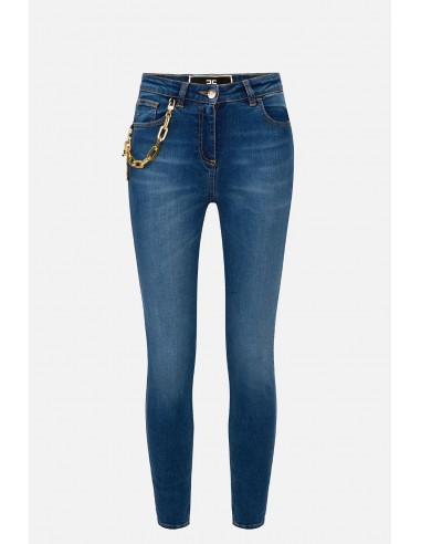 Pantalones vaqueros Elisabetta Franchi con colgantes de encanto - altamoda.shop - PJ70S01E2