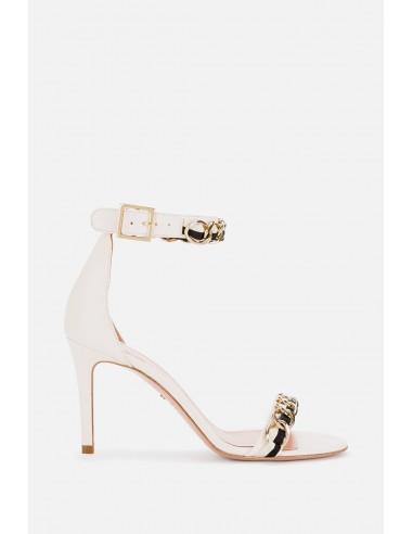 Elisabetta Franchi sandálias com aplicação de corrente - altamoda.shop - SA69F01E2