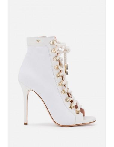Elisabetta Franchi peeptoe ankle boot - altamoda.shop - SA73B01E2