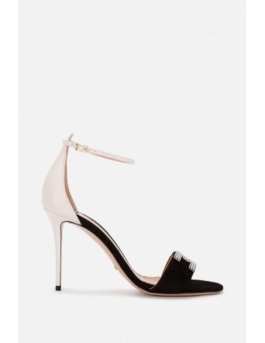 Elisabetta Franchi Sandalia bicolor con tirantes - altamoda.shop - SA75L01E2