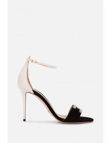 Elisabetta Franchi Tweekleurige sandaal met bandjes - altamoda.shop - SA75L01E2