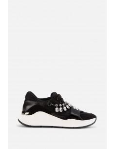 Elisabetta Franchi sneakers with rhinestones - altamoda.shop - SA83B01E2