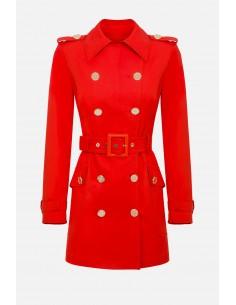 Elisabetta Franchi casaco de pó com cinto - altamoda.shop - SP00201E2