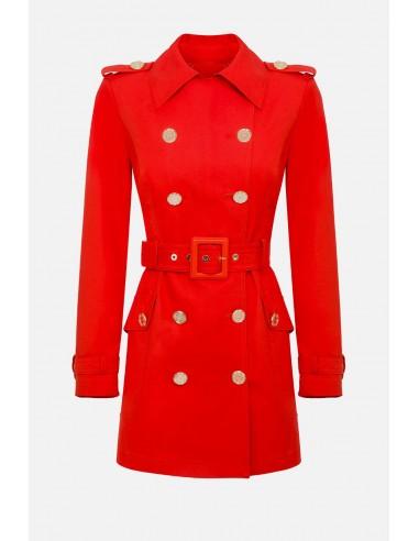 Elisabetta Franchi płaszcz przeciwpyłowy z taśmą - altamoda.shop - SP00201E2
