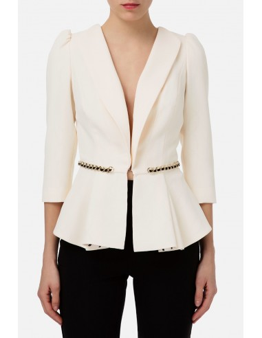 Veste Elisabetta Franchi avec insert de chaîne - altamoda.shop - GI94801E2