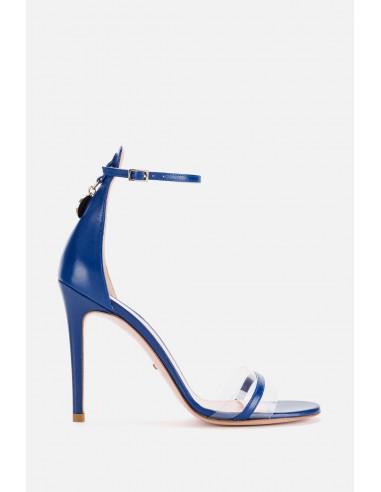 Sandale Elisabetta Franchi avec lanières et breloques - altamoda.shop - SA72F01E2