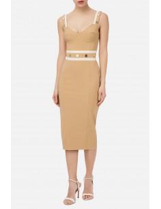 Sheath dress with...