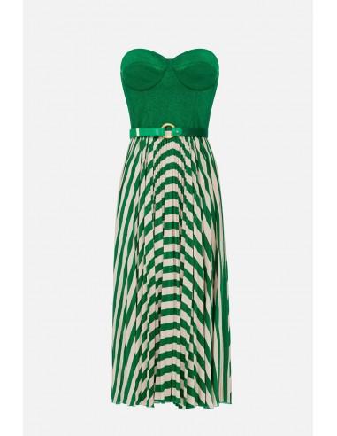 Elisabetta Franchi sleeveless dress with belt - altamoda.shop - AB18001E2
