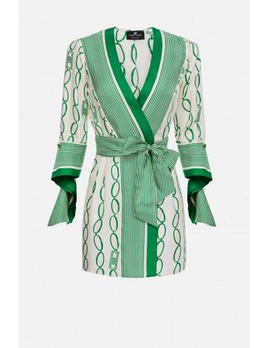 Elisabetta Franchi dress with chain print - altamoda.shop - AB18601E2