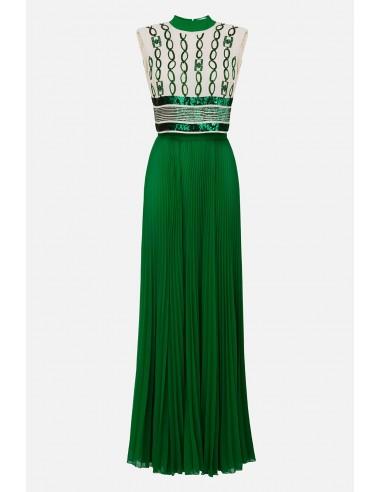 Elisabetta Franchi Długa plisowana sukienka - altamoda.shop - AB22601E2
