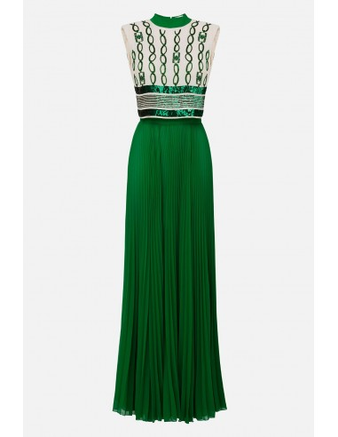 Elisabetta Franchi Long pleated dress - altamoda.shop - AB22601E2