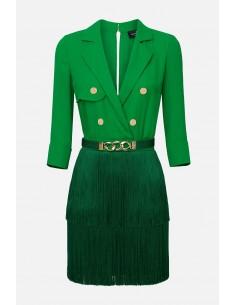 Elisabetta Franchi jurk met franjes - altamoda.shop - AB23601E2