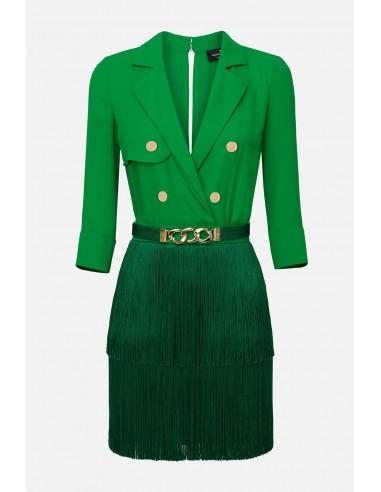 Elisabetta Franchi dress with fringes - altamoda.shop - AB23601E2
