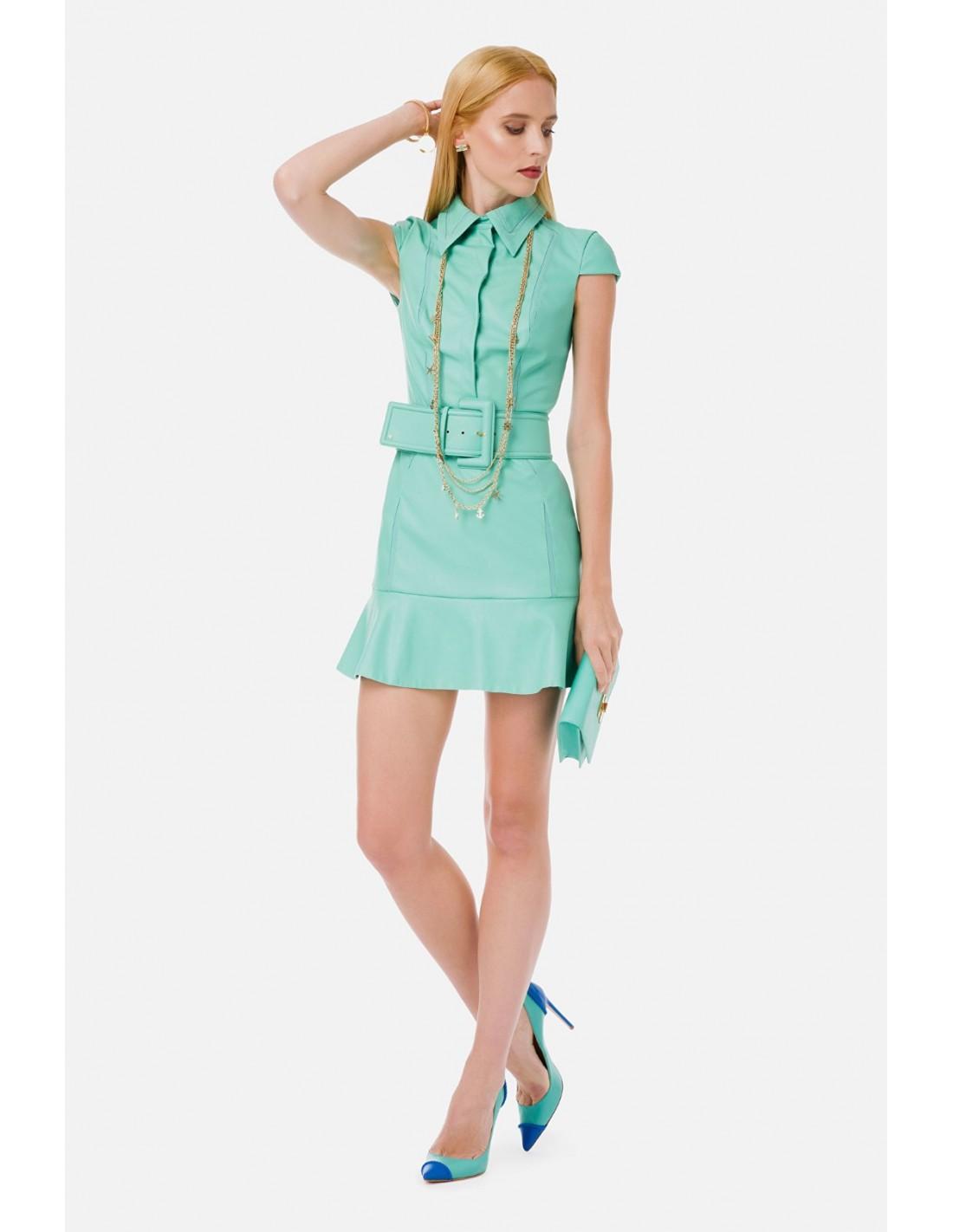 Elisabetta Franchi Kleid mit kurzen Ärmeln - altamoda.shop