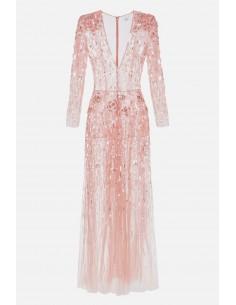 Elisabetta Franchi vestido comprido bordado - altamoda.shop - AR58J01E2