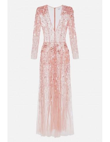 Elisabetta Franchi Besticktes langes Kleid - altamoda.shop - AR58J01E2