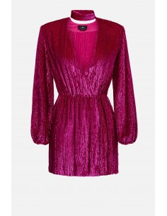 Elisabetta Franchi geborduurde jurk met riem - altamoda.shop - AR59A01E2