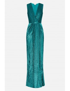 Elisabetta Franchi sleeveless long dress with embroideries - altamoda.shop - AR61A01E2