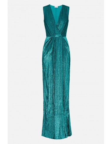 Robe longue sans manches Elisabetta Franchi avec broderies - altamoda.shop - AR61A01E2