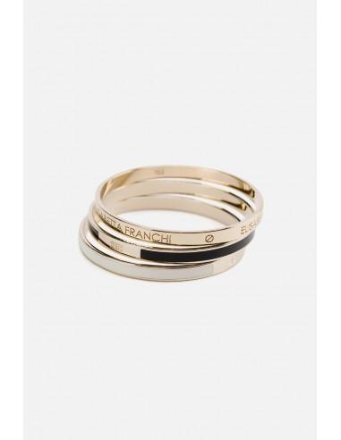Elisabetta Franchi conjunto de 3 braceletes - altamoda.shop - BC1MC01E2
