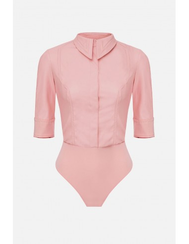 Elisabetta Franchi body de blusa en imitación de cuero - altamoda.shop - CB10301E2