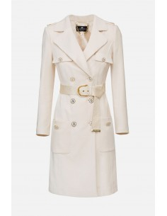 Manteau Elisabetta Franchi avec ceinture - altamoda.shop - CP04301E2
