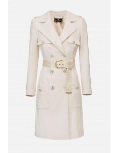 Elisabetta Franchi płaszcz z paskiem - altamoda.shop - CP04301E2