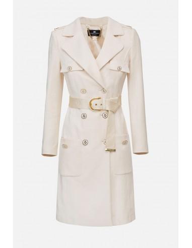Abrigo de Elisabetta Franchi con cinturón - altamoda.shop - CP04301E2