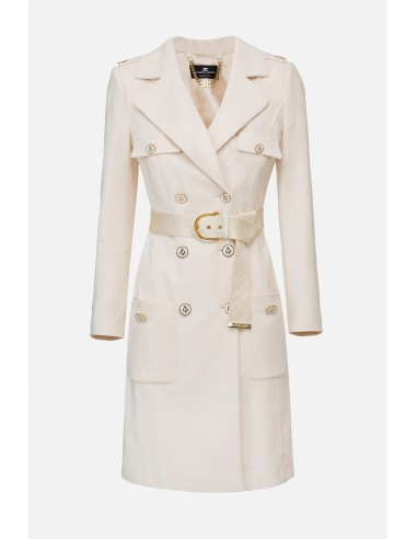 Elisabetta Franchi coat with belt - altamoda.shop - CP04301E2