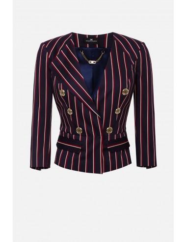 Elisabetta Franchi pinstripe jacket - altamoda.shop - GI91601E2