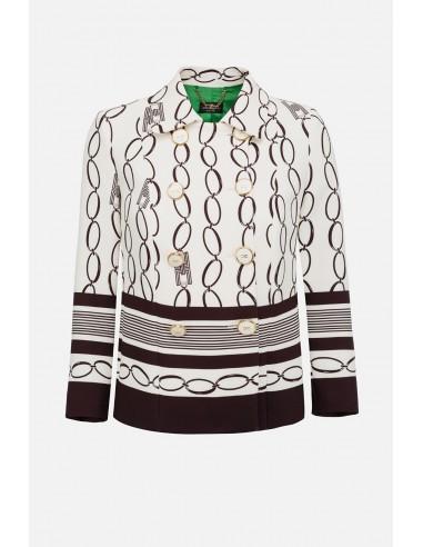 Elisabetta Franchi jacket with chain print - altamoda.shop - GI94201E2