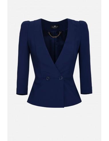 Elisabetta Franchi jacket with 3/4 sleeves - altamoda.shop - GI95101E2