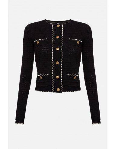 Elisabetta Franchi knitted cardigan with pockets - altamoda.shop - MK14B01E2