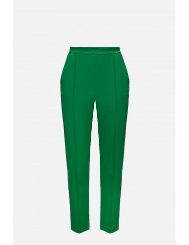 Elisabetta Franchi spodnie papierosowe z tkaniny bielastej - altamoda.shop - PA06401E2