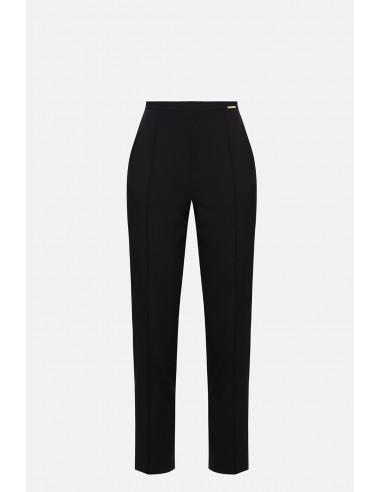 Pantalon de cigarette Elisabetta Franchi coupe haute - altamoda.shop - PA06801E2