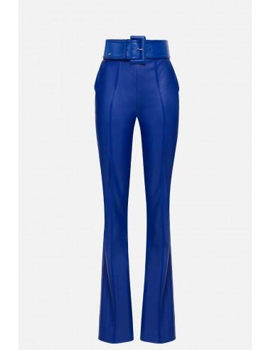 Elisabetta Franchi pantalon à coupe haute avec ceinture - altamoda.shop - PA07501E2