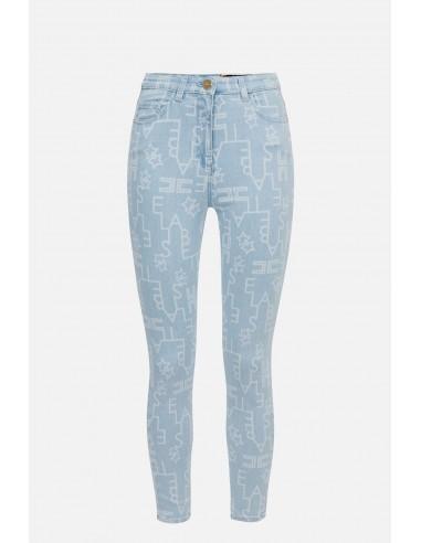 Elisabetta Franchi skinny jeans met logo - altamoda.shop - PJ50I01E2