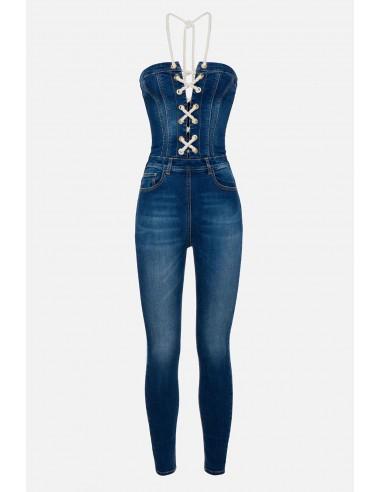 Elisabetta Franchi Jumpsuit com 5 Bolsos - altamoda.shop - TJ12S01E2