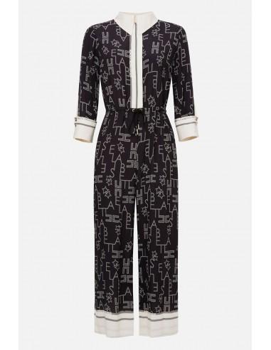Elisabetta Franchi Jumpsuit con letra impresa - altamoda.shop - TU22601E2