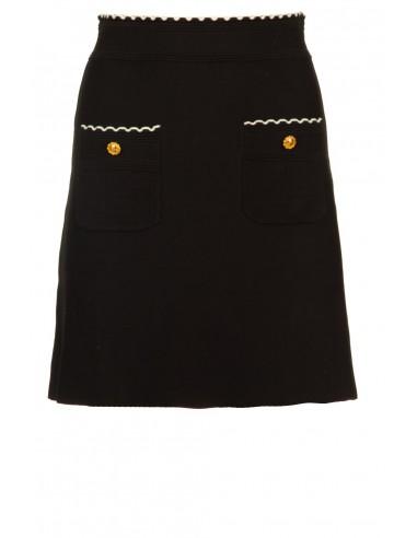 Mini knitted skirt