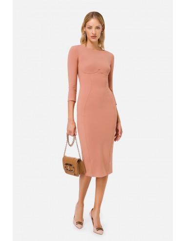 Elisabetta Franchi Pencil dress with 3/4 sleeves - altamoda.shop - AB03806E2
