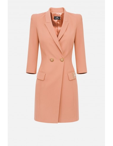 Dress with lapels and double pocket